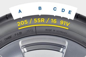 Branje oznak na bočnici pnevmatike